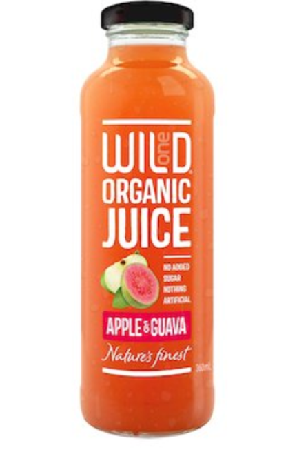 WILD APPLE, GUAVA JUICE ORGANIC 360mL
