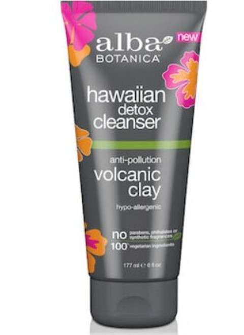 Alba Hawaiian Facial Cleanser, Detox anti-pollution volcanic clay 177mL