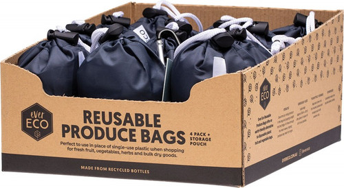 Ever Eco Reusable Produce Bags Recycled Polyester Mesh 4pk 12