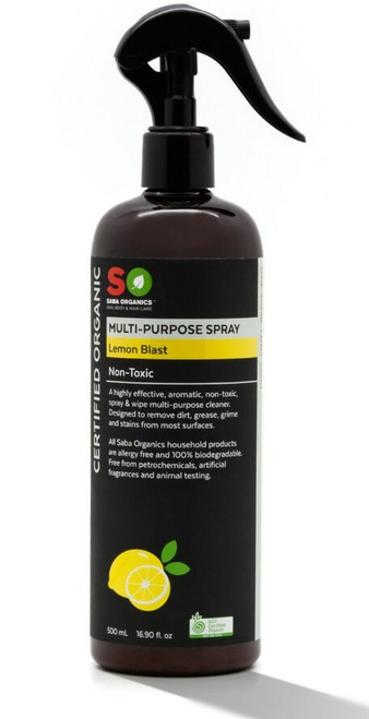 Saba Organics Multi-Purpose Spray - Lemon Blast 500ml