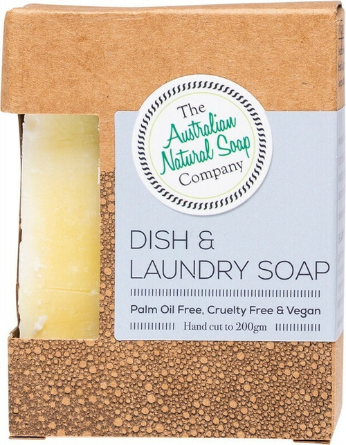 The Australian Natural Soap Co Dish and Laundry Soap Bar 100g