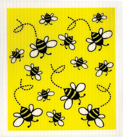RETROKITCHEN 100% Biodegradable Dishcloth Bees x1