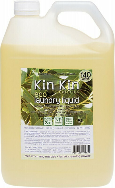 Eucalyptus Laundry Liquid 5L By Kin Kin Naturals