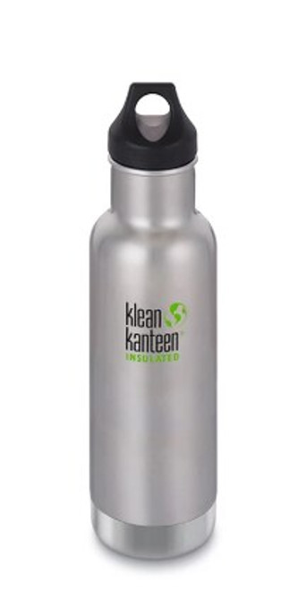Klean Kanteen 20oz Insulated Drink Bottle Brushed Stainless Steel