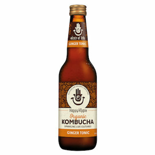 Happy Hippie Organic Kombucha Ginger Tonic 330ml