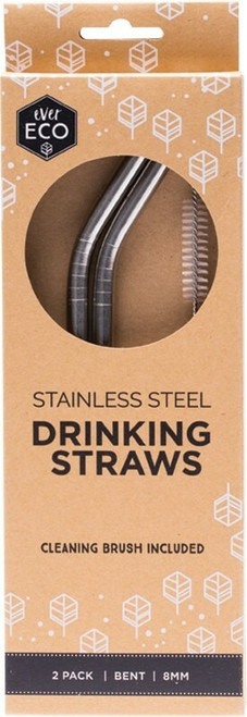 Primal Health Products Stainless Steel Straws x 2 Straws