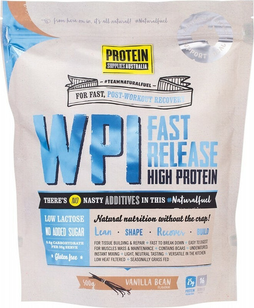 Protein Supplies Australia Vanilla Bean Whey Protein Isolate (WPI) 500g