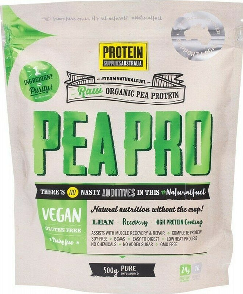 PROTEIN SUPPLIES AUST. PeaPro (Raw Pea Protein) Pure 500g