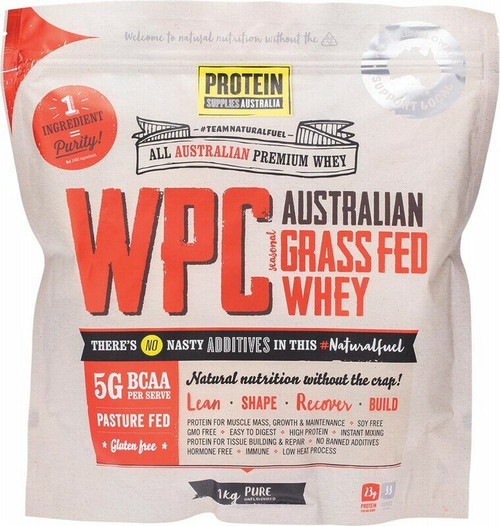 PROTEIN SUPPLIES AUST. WPC (Whey Protein Concentrate) Pure 1kg