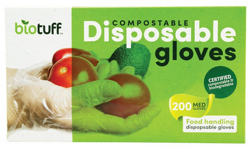 Biotuff Compostable Disposable Gloves Medium 200
