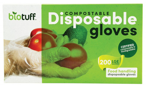 Biotuff Compostable Disposable Gloves Large 200