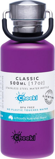 Cheeki Stainless Steel Bottle Purple 500ml