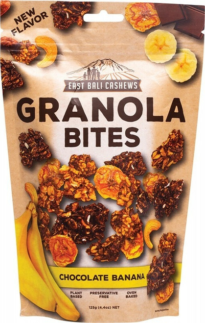 East Bali Cashews Granola Bites Chocolate Banana 125g