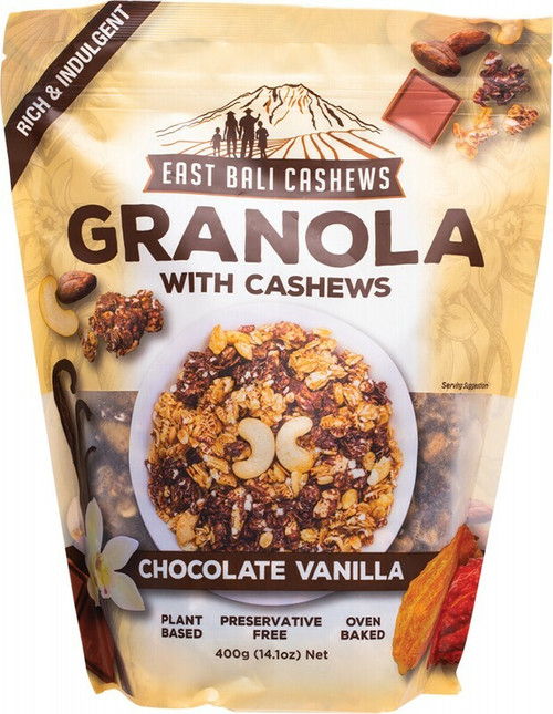 EAST BALI CASHEWS Granola Chocolate Vanilla 400g