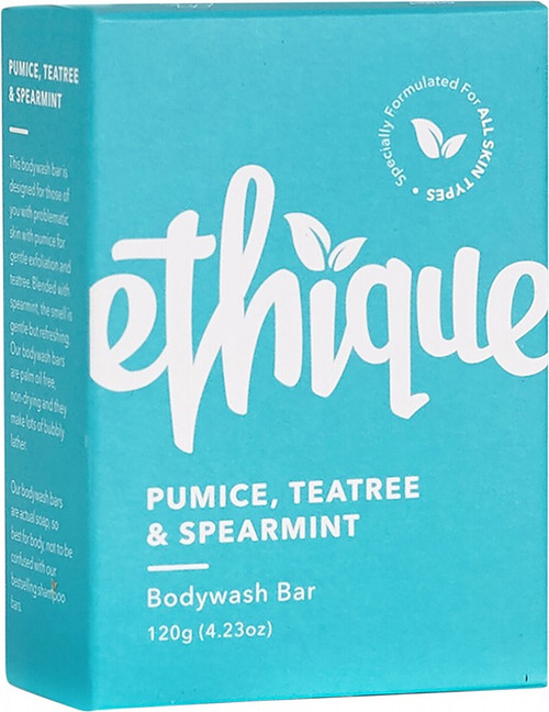 Ethique Solid Bodywash Bar Pumice, Tea Tree & Spearmint 120g