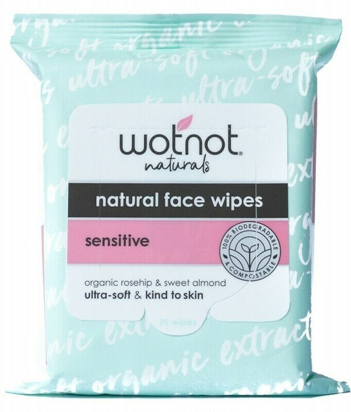 Wotnot Facial Wipes Sensative all skin types 25 Wipes