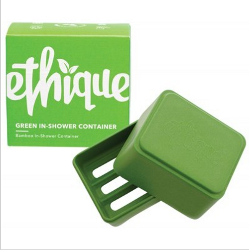 Ethique Bamboo & Cornstarch Shower Container - Green 1