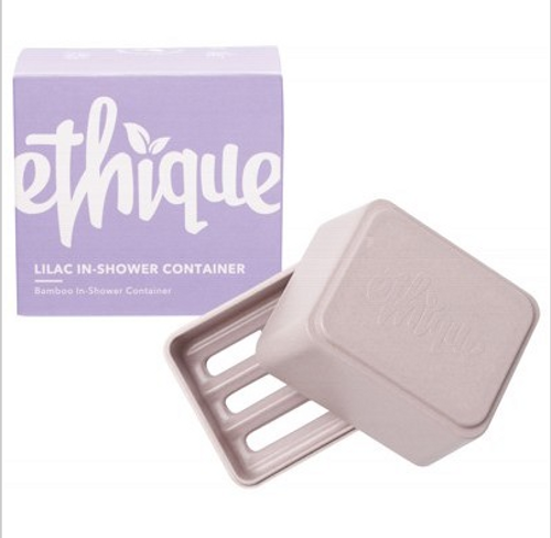 Ethique Bamboo & Cornstarch Shower Container - Lilac 1
