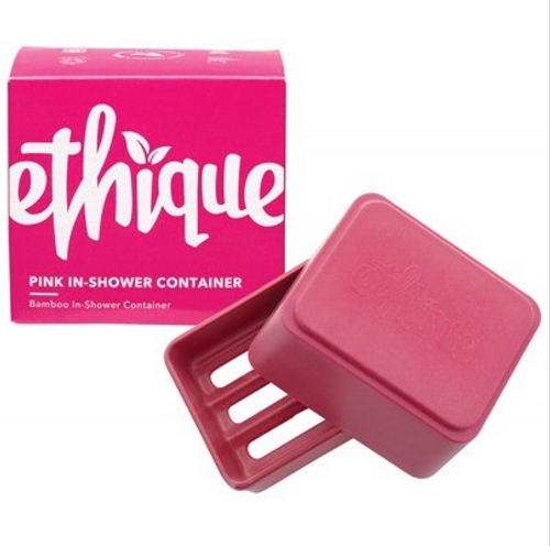 Ethique Bamboo & Cornstarch Shower Container - Pink 1
