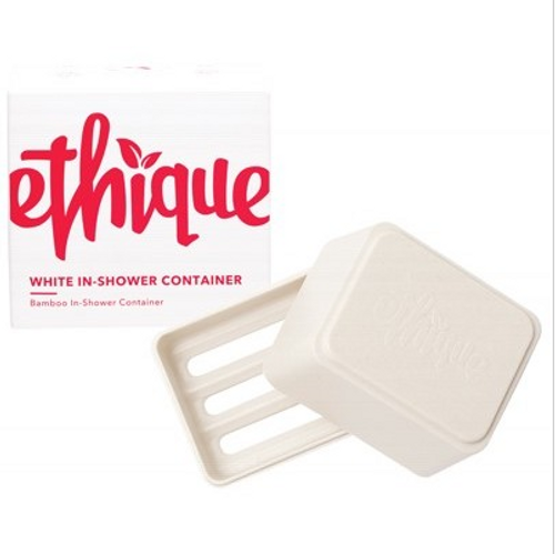 Ethique Bamboo & Cornstarch Shower Container - White 1