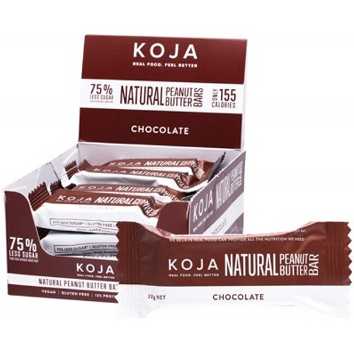 Koja Natural Peanut Butter Bars Chocolate 16x30g