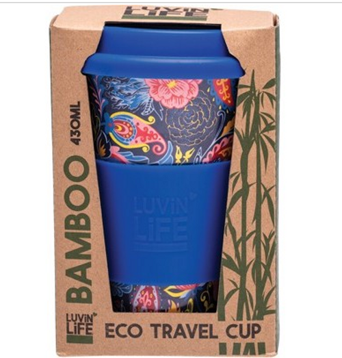 Luvin Life Bamboo Travel Cup Paisley 430ml