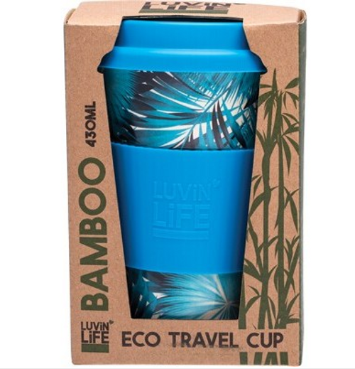 Luvin Life Bamboo Travel Cup Palm 430ml