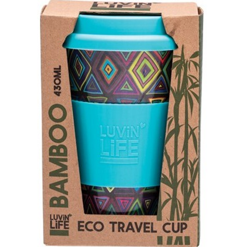 Luvin Life Bamboo Travel Cup Retro 430ml