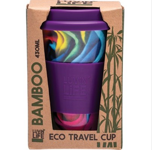 Luvin Life Bamboo Travel Cup Rose 430ml