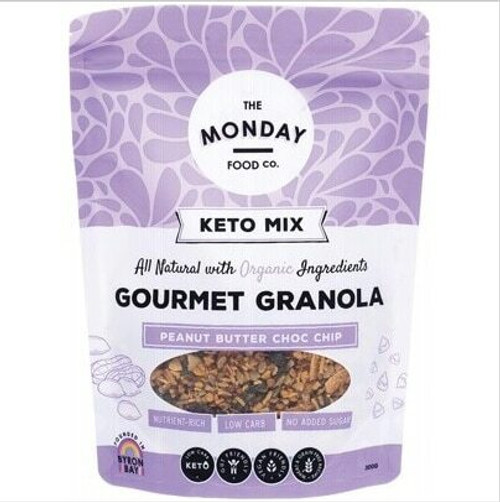 The Monday Food Co Keto Granola Peanut Butter Chocolate Chip 300g