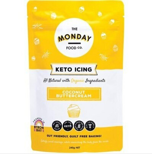 The Monday Food Co Keto Icing Coconut Buttercream 240g