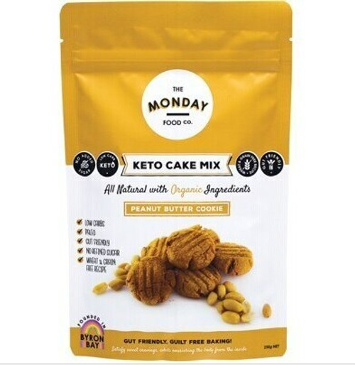 The Monday Food Co Keto Cake Mix Peanut Butter Cookie 250g