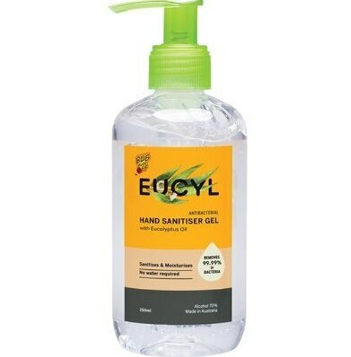 BUG-GRRR OFF EUCYL Hand Sanitiser Gel With Eucalyptus 250ml