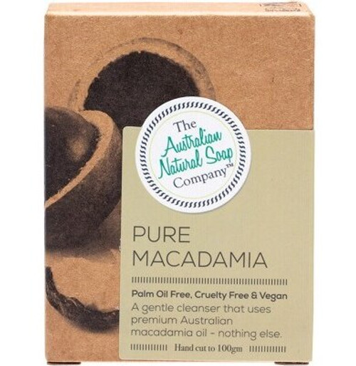 The Australian Natural Soap Co Face Soap Bar Pure Macadamia 100g
