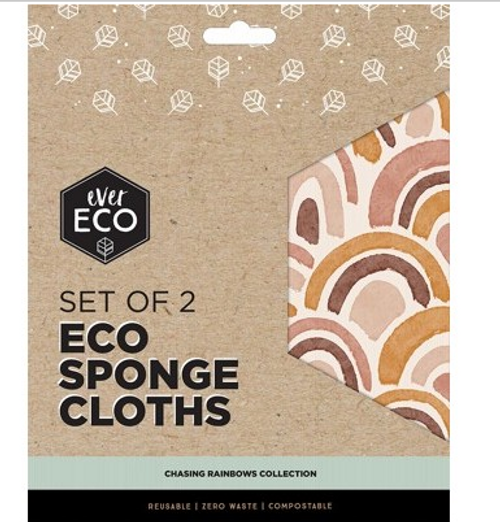 Ever Eco Eco Sponge Cloths Chasing Rainbows Collection 2