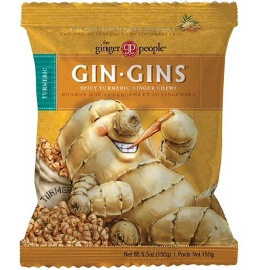 The Ginger People Gin Gins Ginger Candy Chewy - Spicy Turmeric 150g