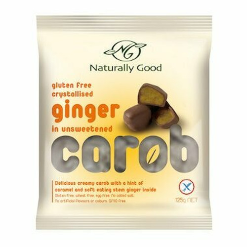 Naturally Good Carob Ginger Y/F 125g