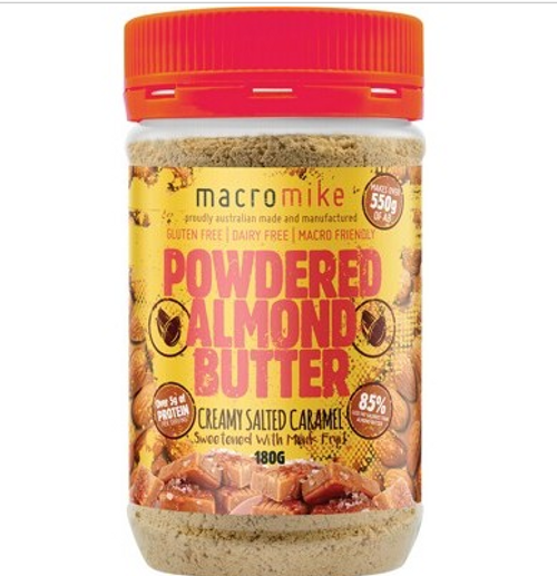Macro Mike Powdered Almond Butter Creamy Salted Caramel 180g