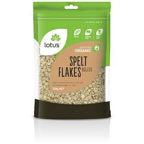 Lotus Spelt Flakes Rolled Organic 250g