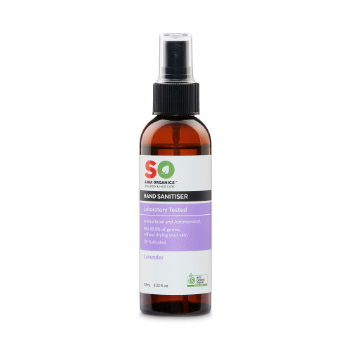 Hand Sanitiser Organic Lavender 125ml Spray