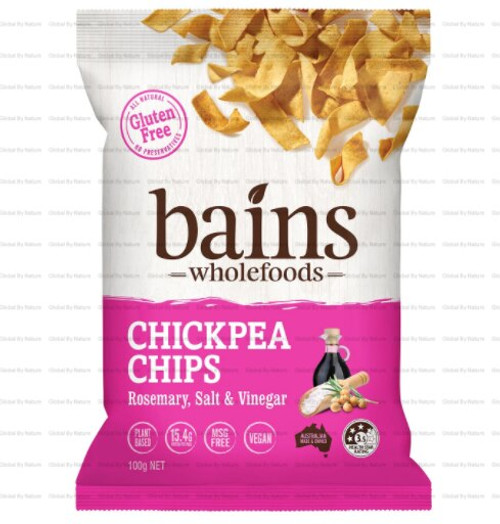 Bains Wholefoods Chickpea Chips Rosemary, S & V 100g x 12
