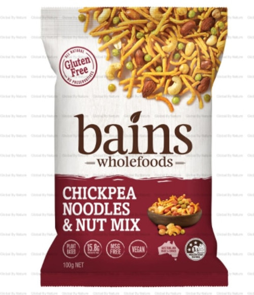 Bains Wholefoods Chickpea Noodles & Nut Mix 100g