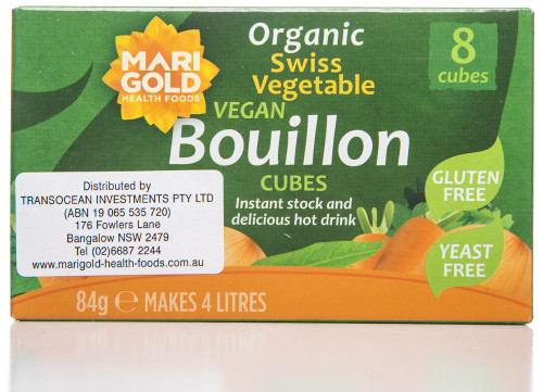 Marigold Health Foods Bouillon Cube Green Yeast Free 8 Packet