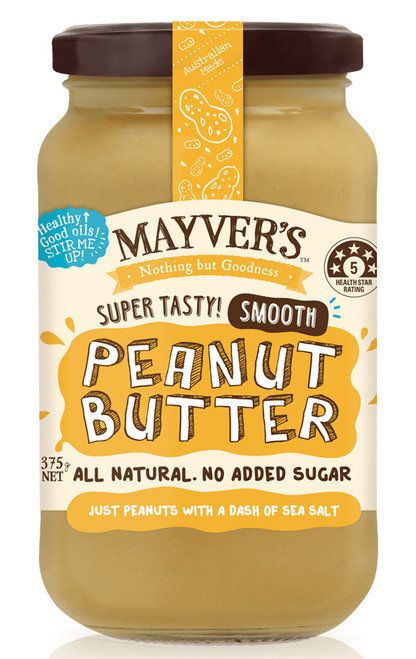Mayver's Peanut Butter Smooth 375g x 6