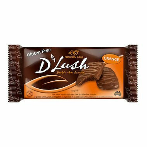 Naturally Good Biscuits D'Lush Double Choc Orange 150g