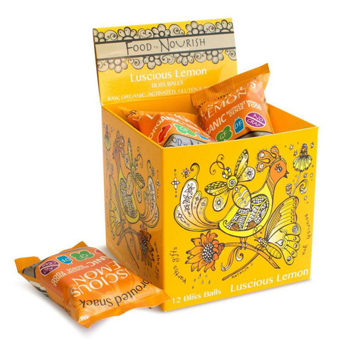 Food to Nourish Snack Sprouted Lucious Lemon 45g x 12