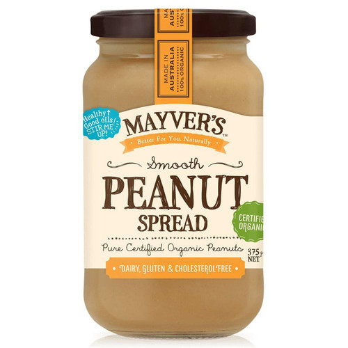 Mayver's Peanut Butter Smooth Organic 375g