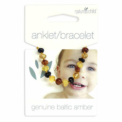 Nature's Child Amber Anklet - Mixed Colours 5g