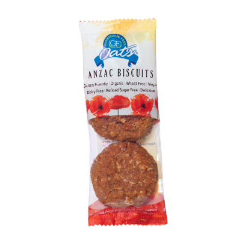 Gloriously Free GF Oats Anzac Biscuits Twin 2 Packet x 10