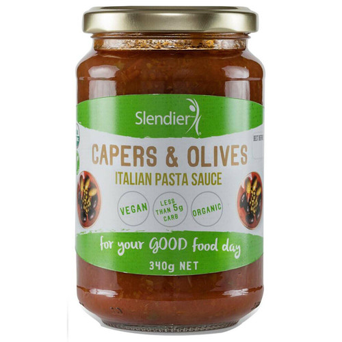 Slendier Olives & Capers Italian Sauce 340g x 6